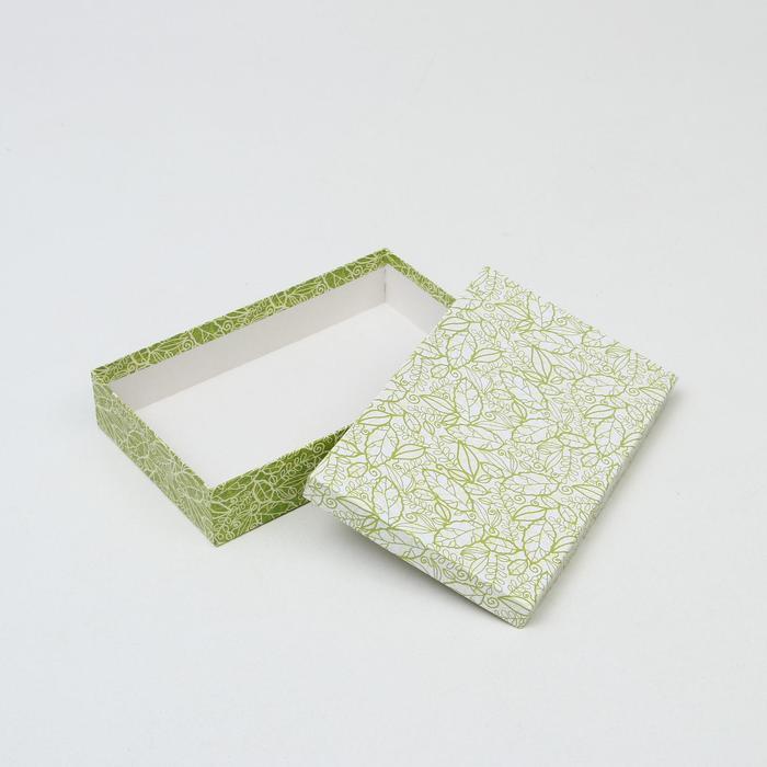 Набор коробок 10 в 1 'Кружевная листва зеленая' МИКС 36,5 х 26,5 х 12 - 23 х 13 х 3 см - фото 5