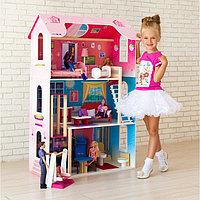 Кукольный домик 'Муза' (16 предметов мебели, лестница, лифт, качели)