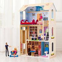 Кукольный домик 'Грация' (16 предметов мебели, лестница, лифт, качели)