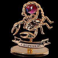 Сувенир знак зодиака 'Скорпион', 7x2,3x9 см, с кристаллом Сваровски