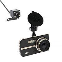 Видеорегистратор Cartage, 2 камеры, WDR 2К HD 1080P, TFT 4, обзор 120
