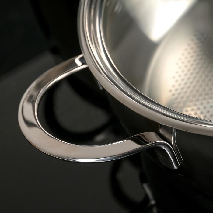 Набор посуды 'Магнолия. Престиж' 5 предметов кастрюли 2,5 л, 3,5 л, 4,5 л сковорода 3 л, ковш 1,2 л, - фото 3
