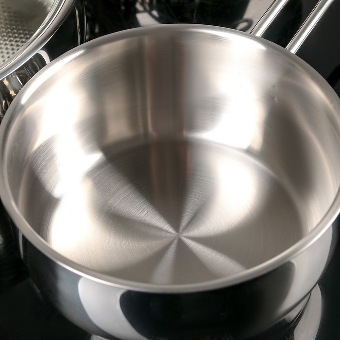 Набор посуды 'Магнолия. Престиж' 5 предметов кастрюли 2,5 л, 3,5 л, 4,5 л сковорода 3 л, ковш 1,2 л, - фото 4