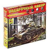 Сборная модель 'Советский танк Т-34-76 выпуск конца 1943 г.' (135)
