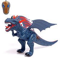 Динозавр радиоуправляемый 'Дракон', дышит паром, световые и звуковые эффекты, работает от батареек