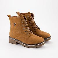 Ботинки женские, цвет коричневый, размер 43