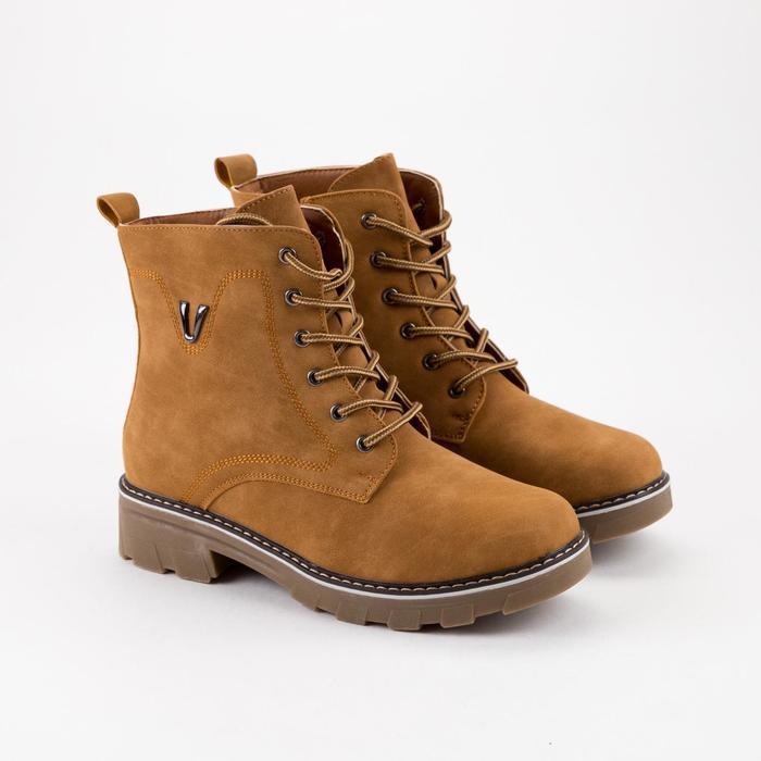 Ботинки женские, цвет коричневый, размер 43 - фото 1