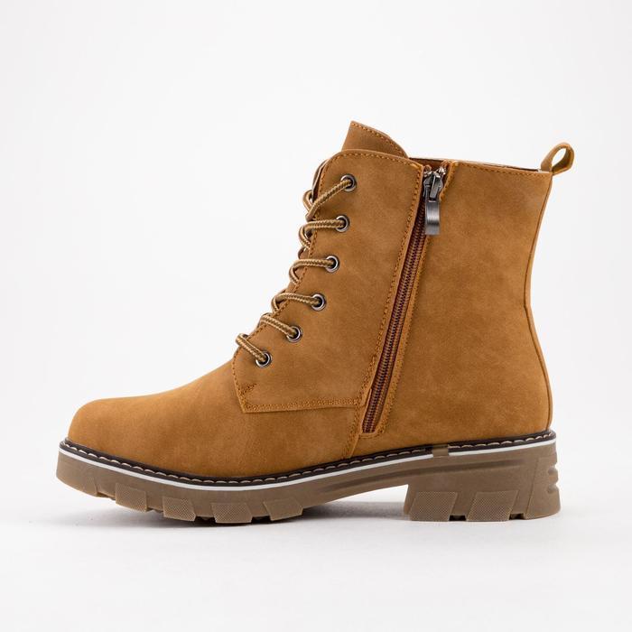 Ботинки женские, цвет коричневый, размер 43 - фото 2