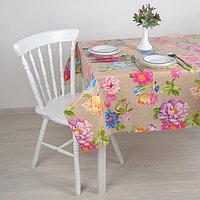 Клеенка столовая на нетканой основе (рулон 20 метров), ширина 137 см 'Полевые цветы'