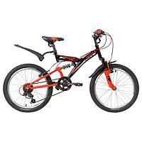 Велосипед 20' Novatrack Dart, 2020, 6 скоростей, цвет черный