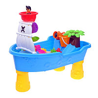Столик игровой 'Кораблик', с песочным набором, 16 аксессуаров для игры с песком и водой, объём ведра 0,25 л