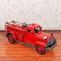 Сувенир металл 'Ретро пожарная машина' 16х36х12 см