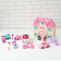 Дом для кукол 'Большая семья' с мебелью и аксессуарами, световые и звуковые эффекты