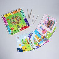 Развивающйи набор 'Сложи рисунок из шариков' 10 листов, 8 цветов,4x31,5x31 см