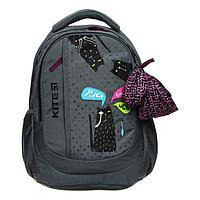 Рюкзак школьный, Kite 855, 40 х 30 х 17.5 см, эргономичная спинка, отделение для планшета, серый