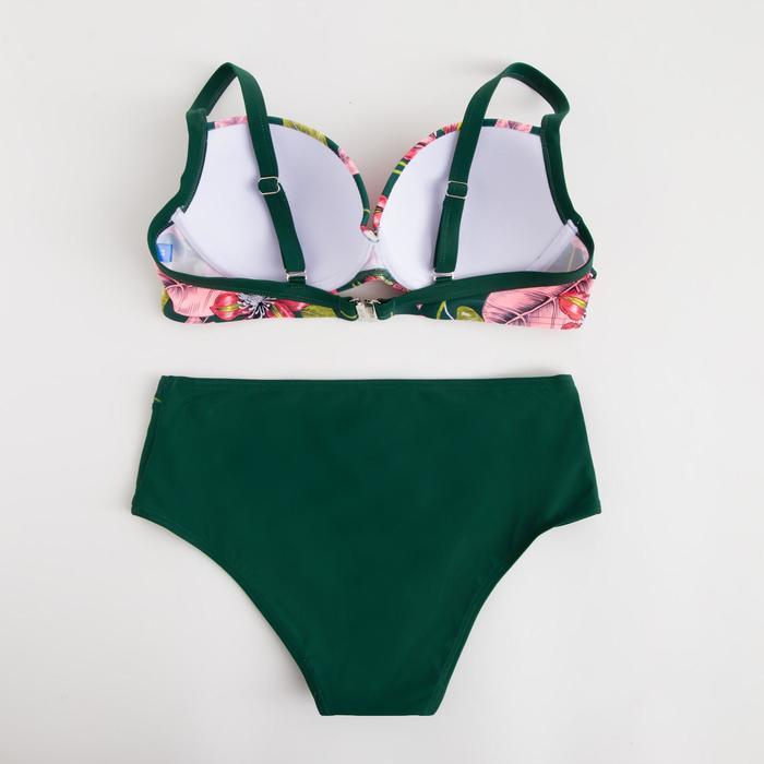 Купальник женский раздельный, цвет зелёный, размер 44 - фото 3