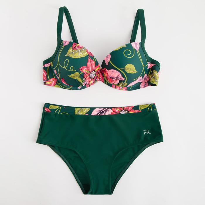 Купальник женский раздельный, цвет зелёный, размер 48 - фото 1