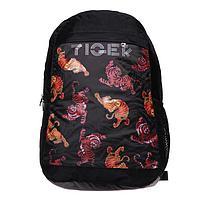 Рюкзак молодежный Calligrata с мягкой спинкой Меридиан 40х26х15 см 'Тигр', цвет чёрный