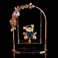 Сувенир с кристаллами Swarovski 'Мишка на качелях' 13,2х10,5 см