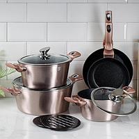 Набор посуды Rosegold Line, 10 предметов
