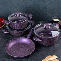 Набор посуды Papilla Wilma, 4 предмета сковорода d26 см, сотейник 3 л, кастрюли 2,4/4,2 л