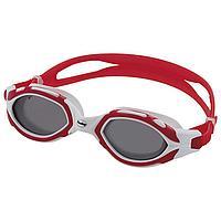 Очки для плавания FASHY Osprey, поляризация, дымчатые линзы, нерегулируемая переносица, цвет красный/белый