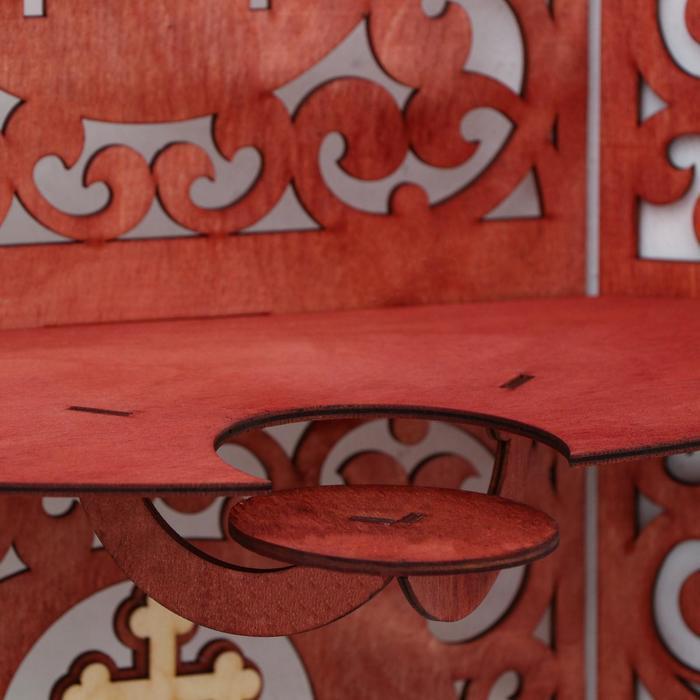 Иконостас 12, цвет красное дерево, 49х18х51 см - фото 3