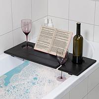 Полка для ванной Relax, 68x28x4 см, цвет венге