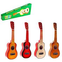 Игрушка музыкальная 'Гитара' 52 см, 6 струн, медиатор, цвета МИКС