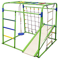 Детский спортивный комплекс Start baby 1, 1200 x 1330 x 1230 мм, цвет салатовый/радуга
