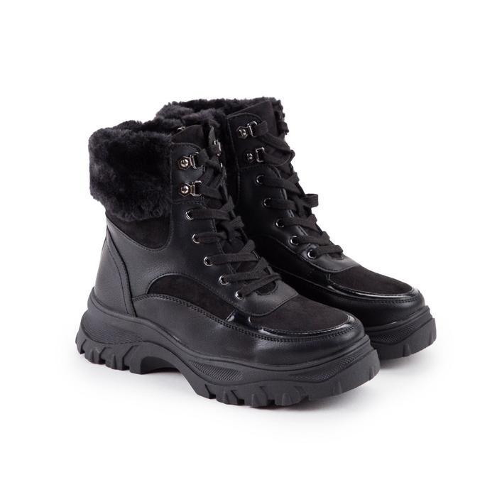 Ботинки женские, цвет чёрный, размер 39 - фото 1