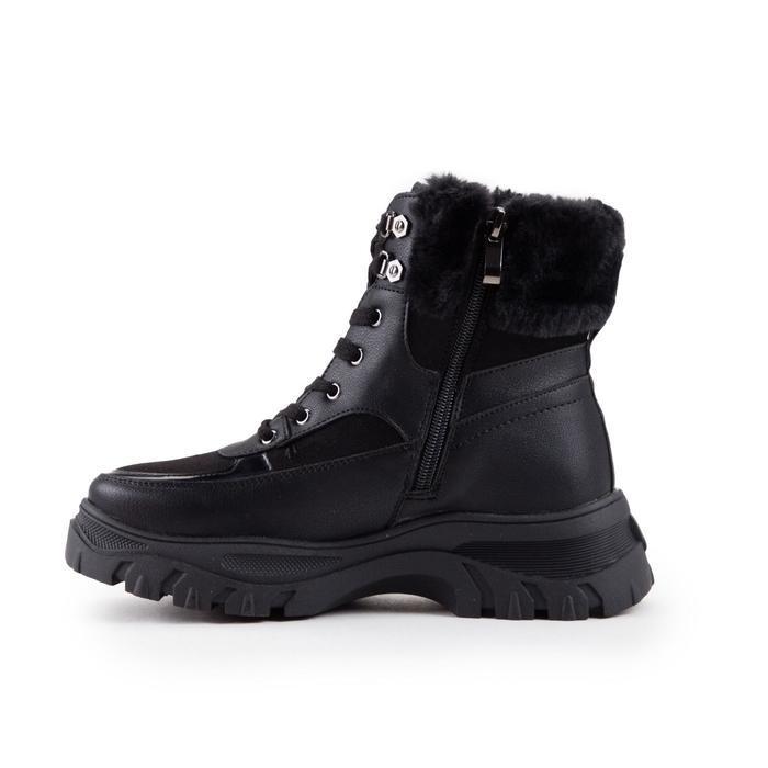Ботинки женские, цвет чёрный, размер 39 - фото 2