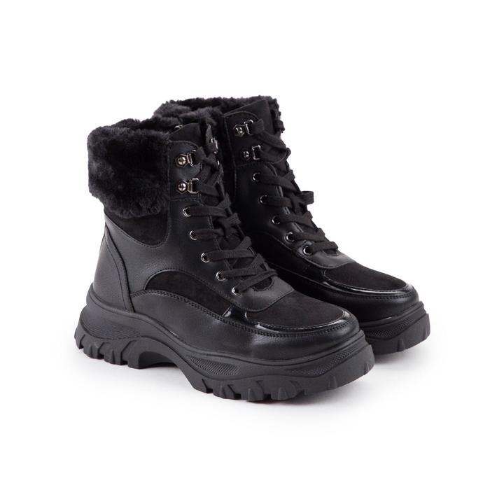 Ботинки женские, цвет чёрный, размер 41 - фото 1
