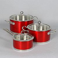 Набор посуды Cervena, 3 шт кастрюли 3,2 л, 5,8 л, ковш 1,6 л