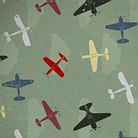 Самоклеящаяся антивандальная пленка для декора ' Самолеты' 60х155 см