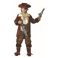 Карнавальный костюм 'Капитан пиратов' коричневый, (бархат и парча), размер 40, рост 158