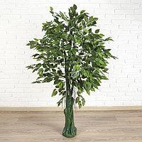 Дерево искусственное зеленый лист 150 см