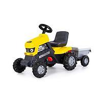 Педальная машина для детей 'Turbo', с полуприцепом, цвет жёлтый