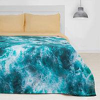 Постельное бельё 'Этель' 1.5 сп Морская волна 143х215см, 160х240 см, 50х70 см - 2 шт
