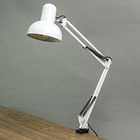 Лампа настольная на шарнире 800 'Крус, белая' E27 40W
