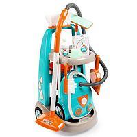 Детская тележка для уборки, пылесос, звуковые эффекты, 31x32x55 см