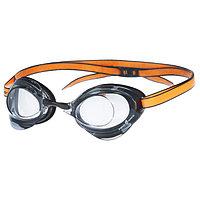 Очки для плавания стартовые Turbo Racer II, M0458 08 0 01W, цвет чёрный/оранжевый