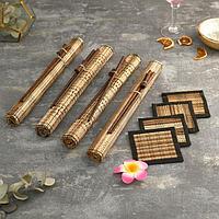 Кокосовые коврики для сервировки 'Весна' 4 шт 35х15х3 см (палочки + подставки под горячее)