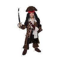 Детский карнавальный костюм 'Капитан Джек Воробей', (бархат и парча), размер 30, рост 116 см