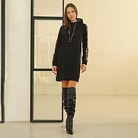 Платье женское, цвет чёрный, размер 44