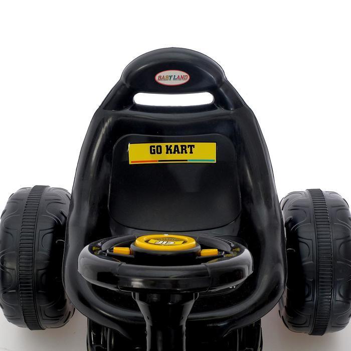 Веломобиль GO KART, цвет чёрный - фото 7