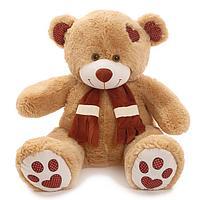 Мягкая игрушка 'Медведь Тони с шарфом' кофейный, 90 см