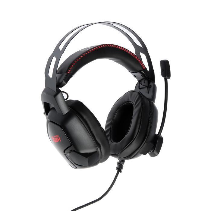 Наушники Smartbuy AMBITION, игровые, полноразмерные, микрофон, подсветка,2.1 м,чёрно-красные - фото 2