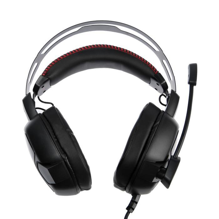Наушники Smartbuy AMBITION, игровые, полноразмерные, микрофон, подсветка,2.1 м,чёрно-красные - фото 3