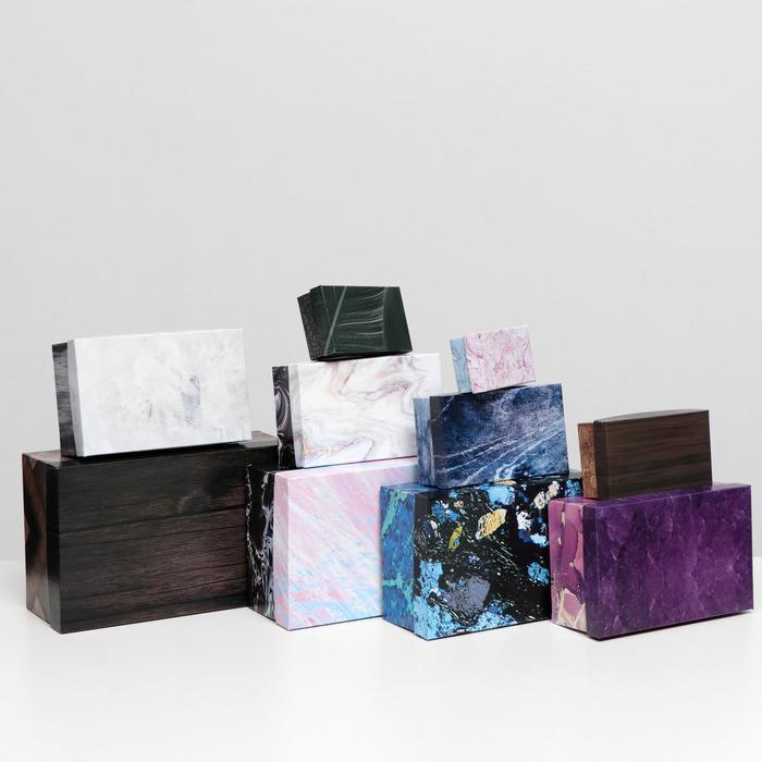Набор коробок 10 в 1 'Текстуры-2', 30,5 х 20 х 13 - 12 х 6,5 х 4 см - фото 4